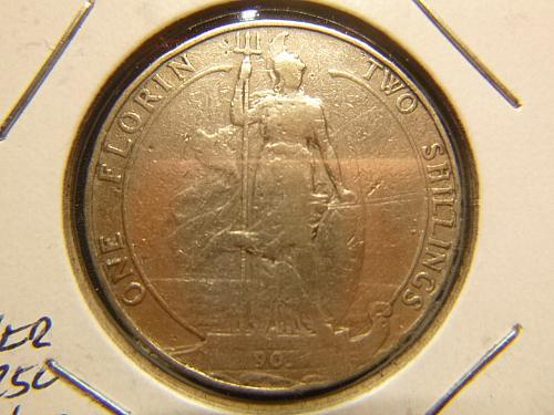 GREAT BRITIAN 1903 ONE FLORIN