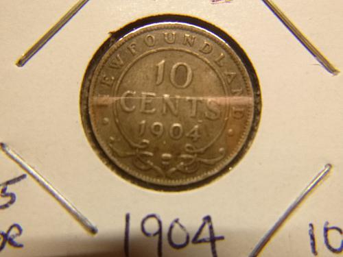NEW FOUNDLAND 1904 H 10 CENTS