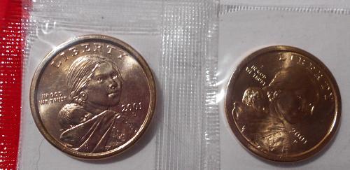 2001 P and D Sacagawea Dollars