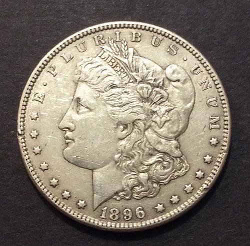 1896 P Morgan Dollar, see pics and description!