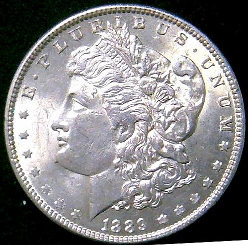 1889 Morgan Dollars Early Silver Dollars 90% Silver.   V3P1R3