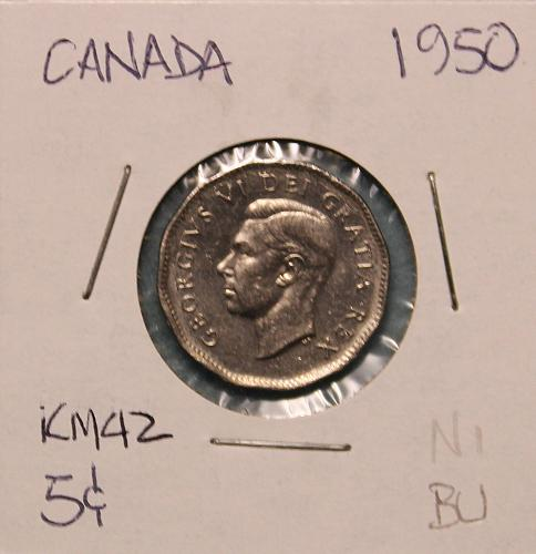 Canada 1950 5 cents