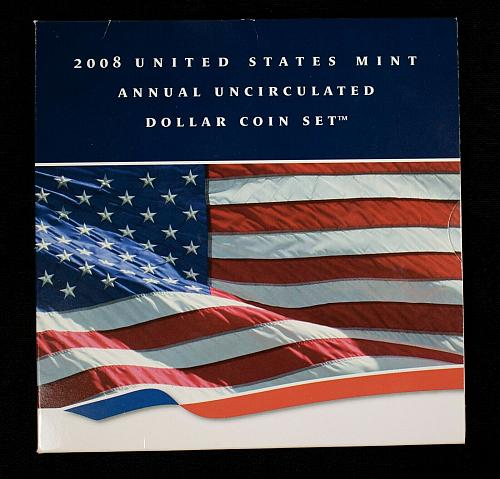 2008 US Mint Annual Uncirculated Dollar Coin Set