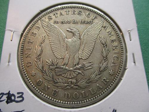 1884  XF40 Morgan Dollar.  item: DM 84-10.