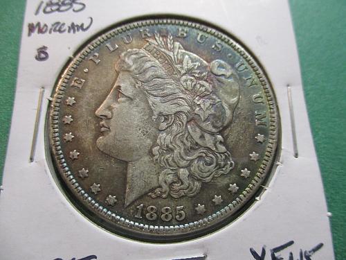 1885  XF45 Morgan Dollar.  Item: DM 85-12.