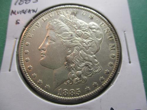 1885  AU53 Morgan Dollar.  Item: DM 85-13.