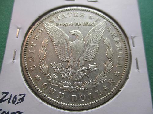 1889  VF25 Morgan Dollar.  Item: DM 89-09.