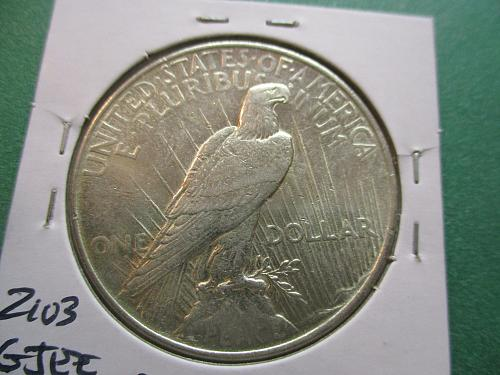 1922  AU58 Peace Dollar.  Item: DP 22-09.