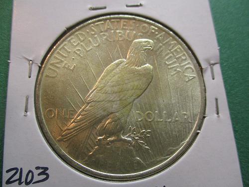 1923  MS61 Peace Dollar.  Item: DP 23-14.
