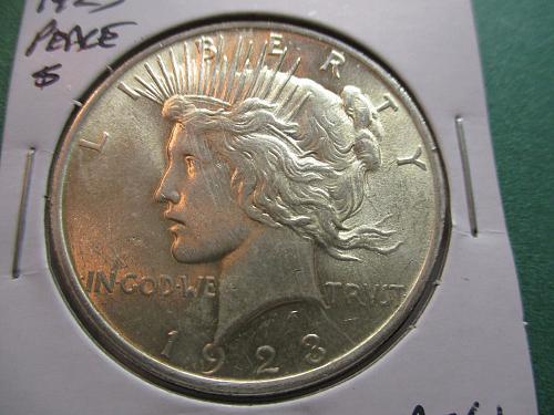 1923  MS61 Peace Dollar.  Item: DP 23-17.