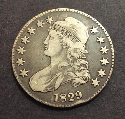1829 P Capped Bust Half Dollar, O-112, R1, see pics and description!