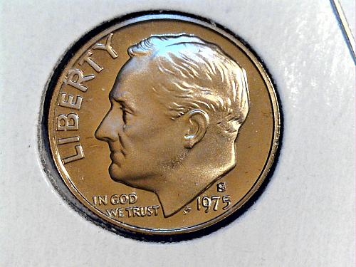 1975 S Proof Roosevelt Dime