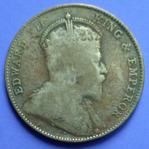 Straits Settlements 20 Cent 1910 B km 22a Silver 0.1047 oz