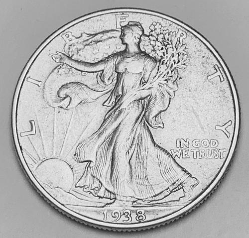 1938 Walking Liberty Half Dollar XF [WL 224]