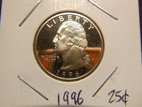 1996 S Washington Quarters : Silver Proof Clad Composition