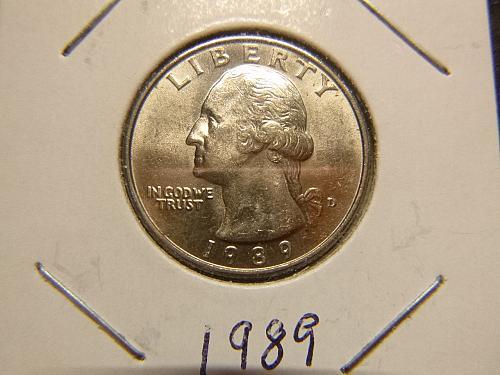 1989 D Washington Quarters Clad Composition
