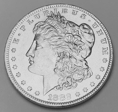 1882-O Morgan Silver Dollar AU58 [MDL 574]