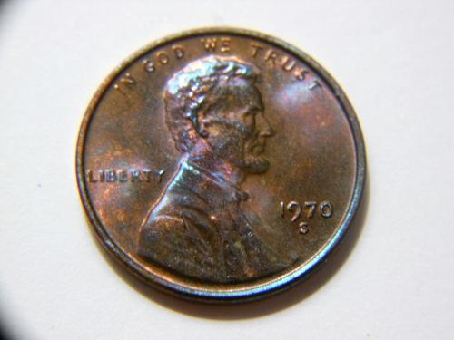 1970-S Small Date *Fantastic Toned* Lincoln Memorial Cent