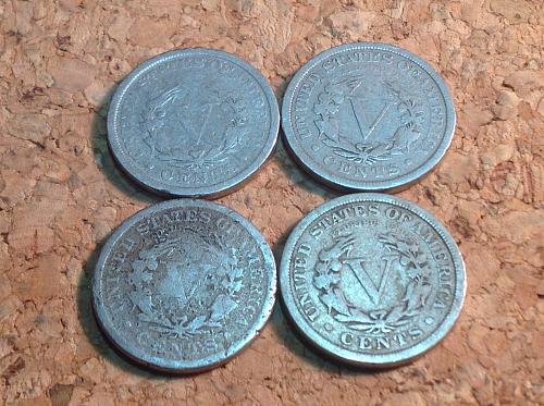 4 Liberty V Nickels