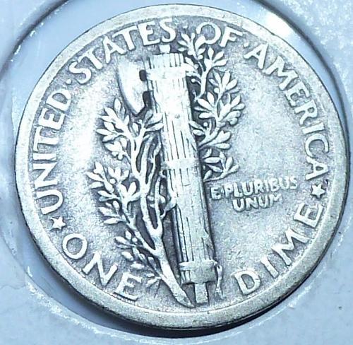 1920-P Extra Fine Mercury Dime  XF ( S-012)