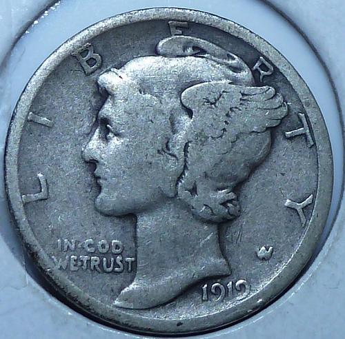 1919-D Very Good Mercury Dime   (N-106)