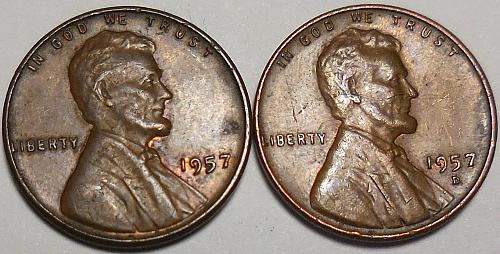Lincoln Wheat Cents 1957-P 1957-D