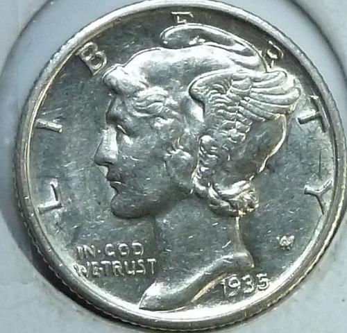 1935-S Uncirculated Mercury Dime Unc ( N-288 )