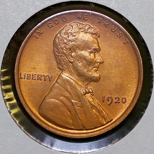 1920 P Lincoln Wheat Cent - Red Gem BU / MS RD / UNC