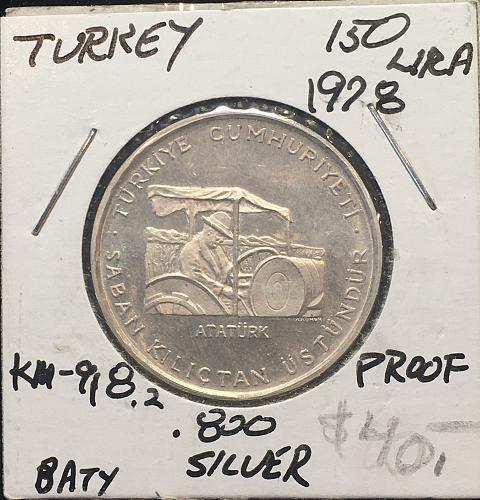 TURKEY  150 LIRA  1978