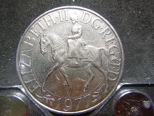 25 New Pence - Elizabeth II Silver Jubilee