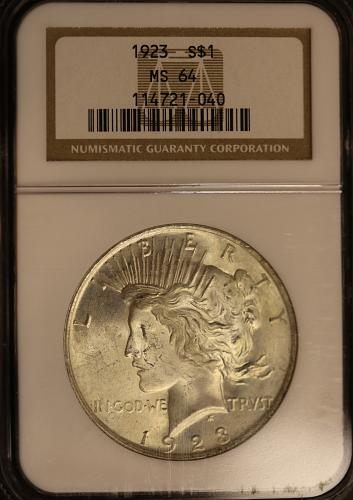 1923 Peace Dollar NGC MS64