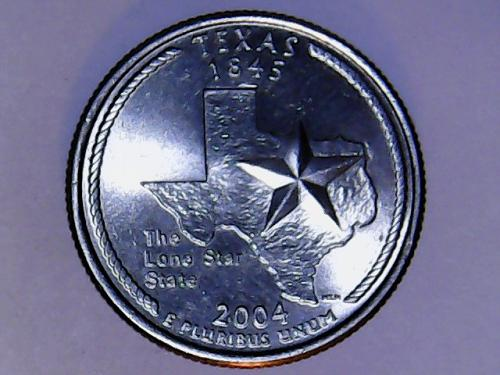 2004 P Texas 50 States and Territories Quarter.  SEE PICTURES