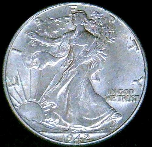 1942 Walking Liberty Half Dollars  V3P2R2