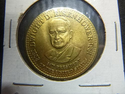 Token - Shell's Presidential Coin Game Dwight D. Eisenhower 1953-1961   COIN