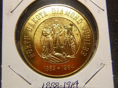 NORTH DAKOTA DIAMOND JUBILEE 1888-1964 HALF DOLLAR