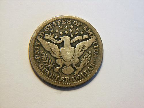 1912-P Silver Barber Quarter
