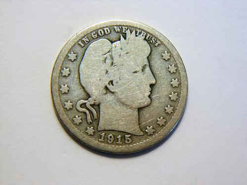1915-S Silver Barber Quarter