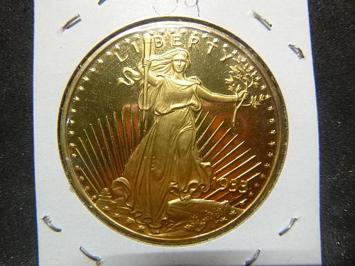 """UNITED STATES OF AMERICA TWENTY DOLLARS """"GOLD PLATED COPY"""" 1933 LIBERTY COIN"""