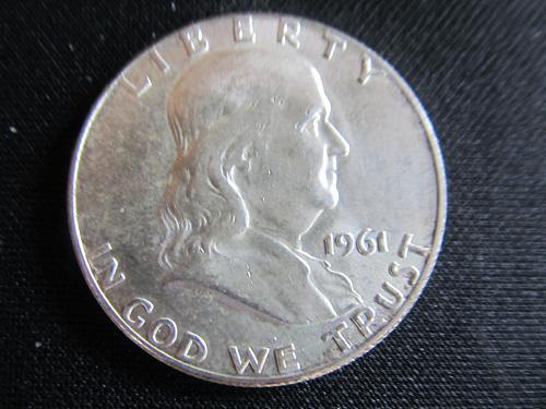 1961 P Franklin Half Dollar AU