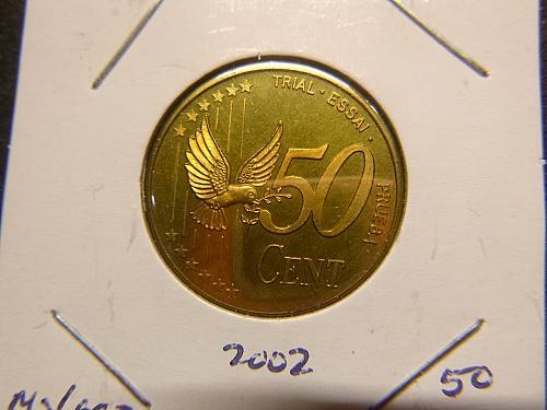 UNITED KINGDOM 2002 50 CENT PRUEBA