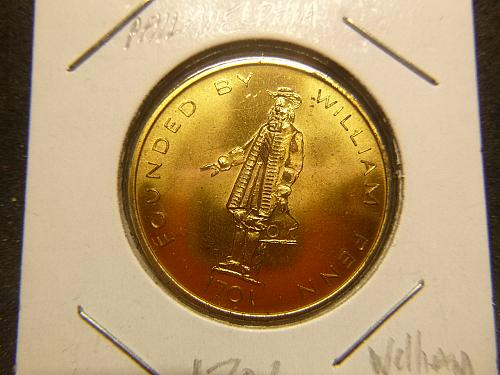 FOUNDED BY WILLIAM PENN 1701 SEAL OF THE CITY OF PHIDELIPIA COPY COIN