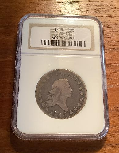 1795 FLOWING HAIR HALF DOLLAR 50C