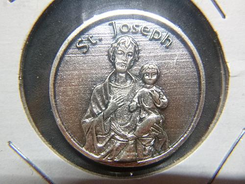 SAINT JOSEPH BLESSING PEWTER COIN