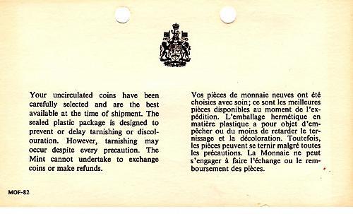 "1970 CANADA SIX COIN PROOF-LIKE SET ""MANITOBA CENTENNIAL"""