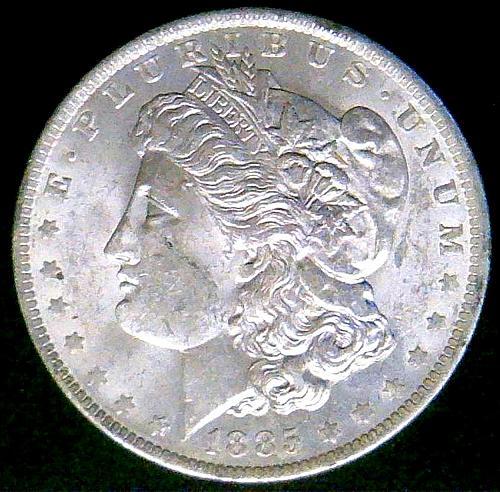 1885 O Morgan Dollars Early Silver Dollars. V3P2R4