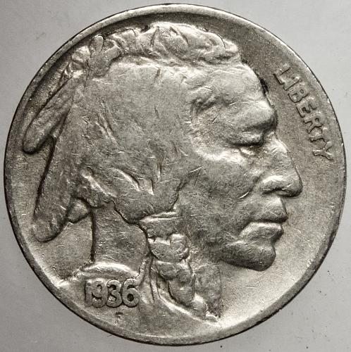 1936 S Buffalo Nickel #6