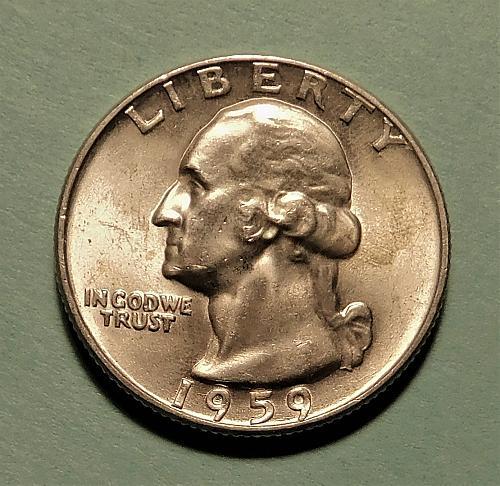 1959 P Washington Quarter Dollar,