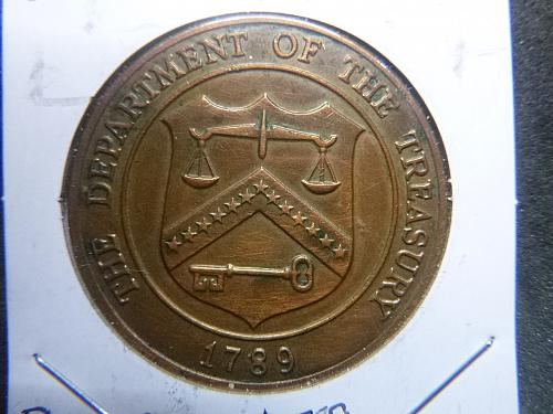 DEPARTMENT OF THE TREASURY 1789 BRONZE MEDAL