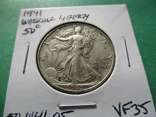 1941  VF35 Walking Liberty Half Dollar.  Item: 50 W41-05.