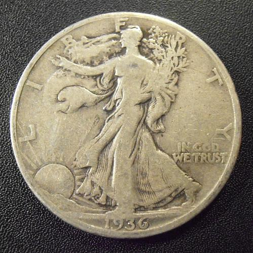 1936 P Walking Liberty Silver Half Dollar  (36PAC4)